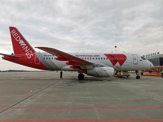 Airliner Sukhoi Superjet-100 RA-89138 at Voronezh airport