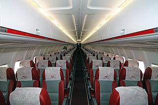 The cabin of the Tu-204-100 Red Wings airlines