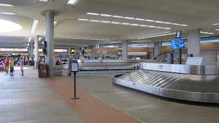 Baggage claim at the airport of Kahului