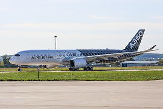 Airbus A350-900 F-WWCF at the airport of Zhukovsky