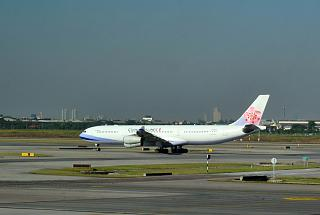 Airbus A340-300 China Airlines at the airport Bangkok Suvarnabhumi