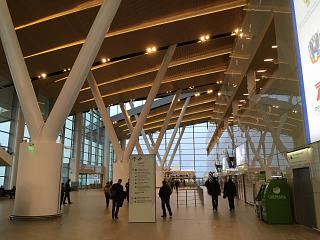 In the passenger terminal of the airport Platov in Rostov-na-Donu