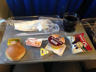 """Flight meals on the flight Nizhniy Novgorod - Murmansk airlines """"Nordavia"""""""