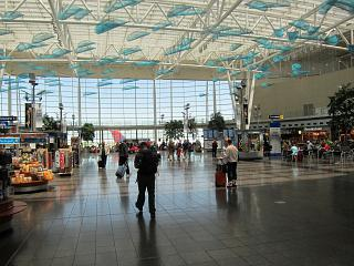 The Central hall of the passenger terminal at the airport in Indianapolis