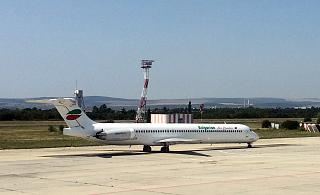 McDonnell Douglas MD-82 airline Bulgarian Air Charter at airport Varna