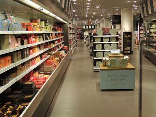 The duty-free shop at Brussels airport