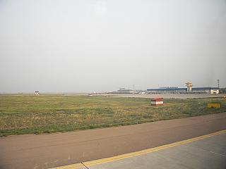The tarmac of the airport Baikal in Ulan-Ude