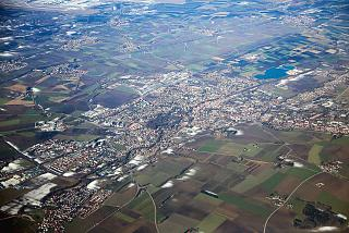 The small town of Erding near Munich