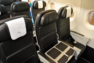 Business class in an Airbus A320 of British Airways