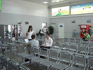 The waiting room before landing at the airport Kazan