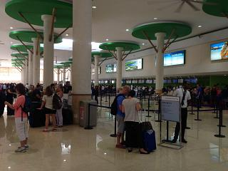 The check-in area for flights to the airport of Punta Cana