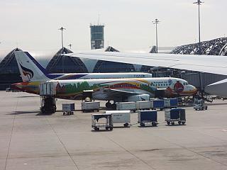 At the airport Bangkok Suvarnabhumi