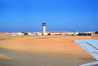 Control tower and fire station of the airport of Marsa Alam