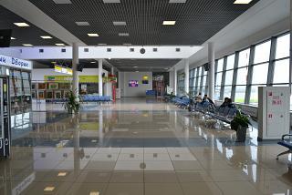 В пассажирском терминале аэропорта Владивосток Кневичи