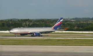 Airbus A330-200 of Aeroflot at the airport Havana, Jose Marti