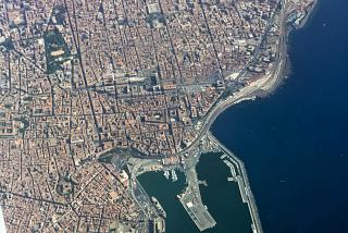 The city of Catania in Sicily
