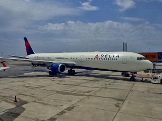 Boeing 767-300 of Delta Air Lines at Nice Airport