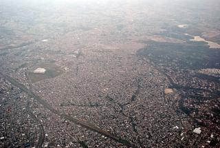 The district of Lomas de las Torres on the edge of Mexico city