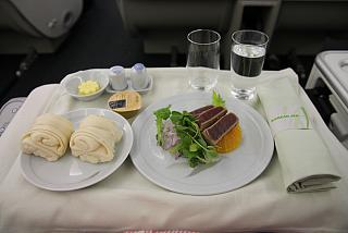 Tuna salad in business class airlines Korean Air