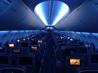 The Sky Interior cabin on the Boeing-737-900 Malindo airlines Ar