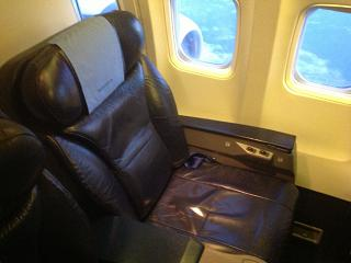 The seat business class Boeing-737-500 of airline Nordavia