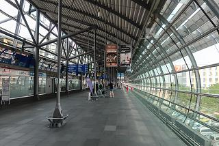 Transition between terminals at Leipzig Halle Airport