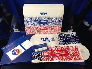 Souvenirs of Aeroflot on flights during the Olympics Sochi 2014
