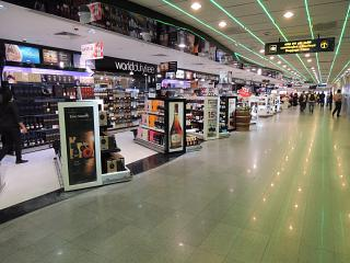 The duty-free shop in the arrivals area of Colombo airport Bandaranaike international