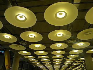 The ceiling in terminal 4 of Madrid-Barajas airport