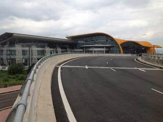 The terminal of the airport lien khuong