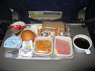 Food on the flight VIM airlines Antalya-Moscow