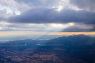 В полете над Испанией. Рейс Валенсия-Мадрид.