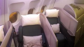 The business class in the Airbus A340-300 Cathay Pacific