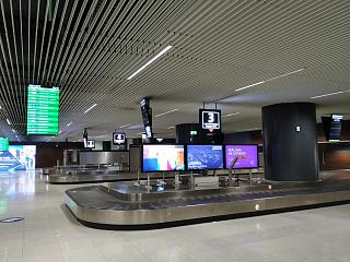 The baggage claim area at the airport in Gdansk
