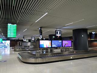 Зона выдачи багажа в аэропорту Гданьск