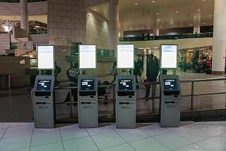 Self check-in kiosks at Lisbon airport