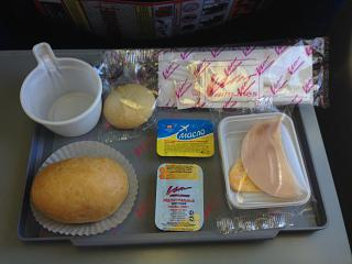 "Breakfast on the flight from Moscow to Krasnodar airline ""VIM-Avia"""