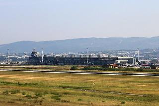 Views of the passenger terminal of the airport of Thessaloniki Macedonia