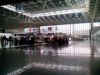 The reception area for domestic flights at the airport of Sochi
