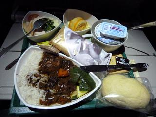 Food on the flight, Emirates airline