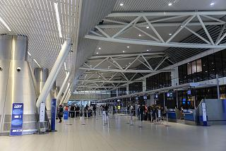 The check-in area in terminal 2 of Sofia airport