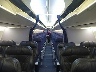 The passenger cabin of a Boeing 737-800 airlines Copa Airlines