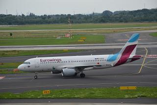 The Airbus A320 D-ABDP airline Eurowings Dusseldorf airport