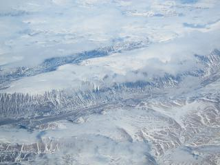 В полете над Гренландией рейсом Москва - Лос-Анджелес