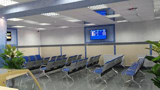 The waiting room at the airport Kirov Pobedilovo