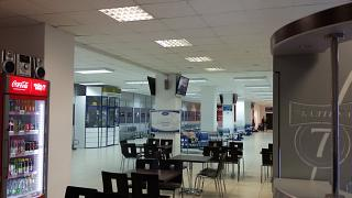 In the clean zone of terminal 1 of the airport Arkhangelsk Talagi