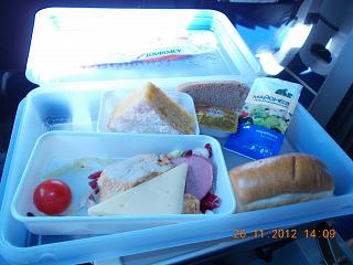 The food on Turkish airlines Astrakhan-Moscow