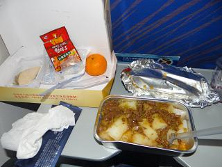 Food on the flight Siem reap-Guangzhou China Southern airlines