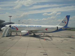 Airbus A320 VP-BFZ Ural airlines at the airport Mineral Water