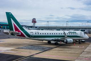 Embraer 175 EI RDA Alitalia CityLiner at the airport of Rome Fiumicino